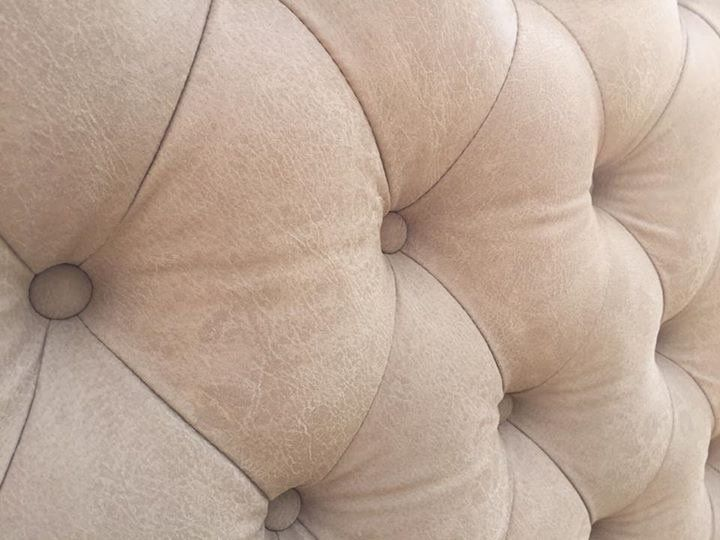 Close up of cream sofa pattern